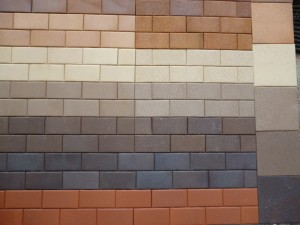 clay pavers phot